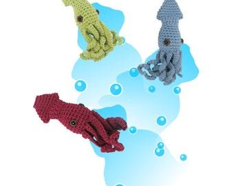 Crocheted Squid Pattern PDF