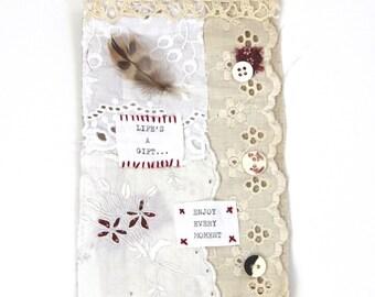 Textile Art, Handstitched Piece.