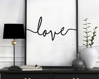 Love Quote Prints, Love Wall Art, Nursery Wall Prints, Love Sign, Wall