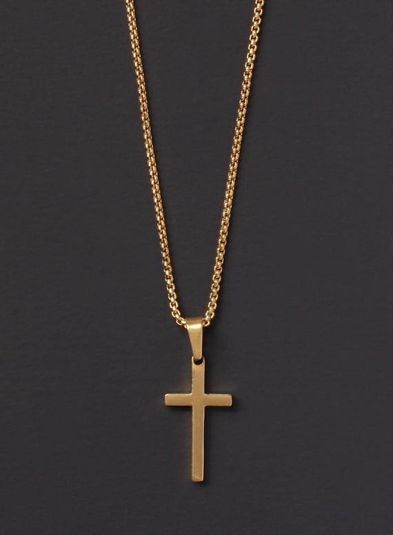 Cross necklace for men mens gold cross necklace cross necklace for men mens gold cross necklace mens jewelry gold cross pendant necklace for men gold chain necklace stainless mozeypictures Images