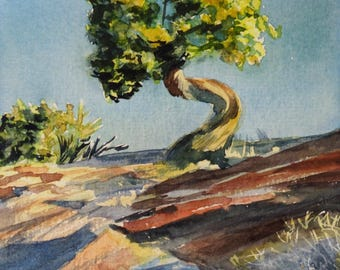 Aquarell handgemalt Landscape Original