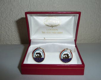 Boxed Masonic Royal Ark Mariner Enamel Cuff Links by Central Regalia London