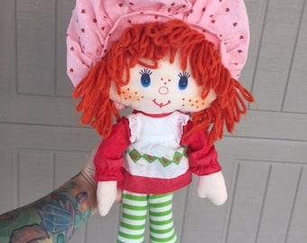 1980s Strawberry Shortcake Plush Rag Doll