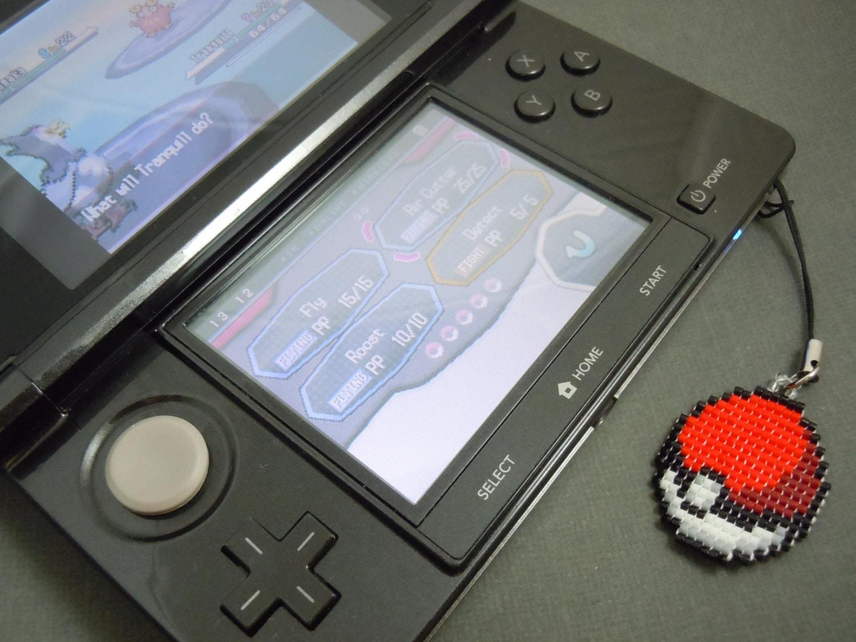Glass Bead Pokeball Keychain 3DS Charm Cell Phone Charm