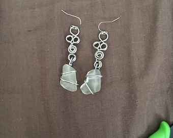 Sea glass Dangles