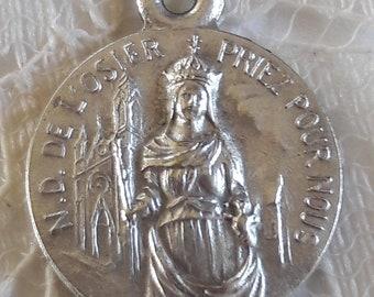 Notre Dame de l'Osier - Antique French Medal - Marian Apparition