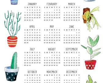 2018 Succulent Calendar