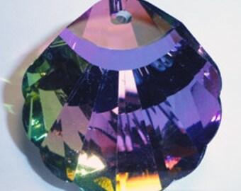 30mm Celestial Crystal Vitrail Medium Shell Prism Pendant Drop Charm