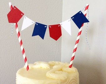 Patrotic Cake Topper Banner