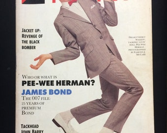 THE FACE MAGAZINE - Pee-Wee Herman cover (July 1987 - Issue 87)