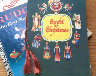 Vintage Christmas Book The Spirit Of Christmas Xmas Card Advertising Booklet