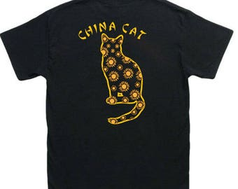 China Cat Sunflower Grateful Dead t shirt