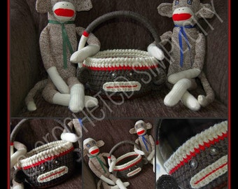 """Crochet Pattern: """"Monkey Business"""" Easter Basket, Permission to Sell Finished Items"""