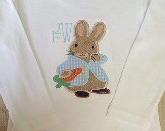 Peter Rabbit Appliqued Shirt with Initials