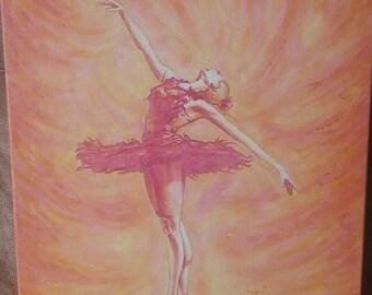 Ballerina Painting Ballet Artwork Canvas Painting Dancer
