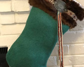 Southwestern Native American Vibe Christmas Stocking