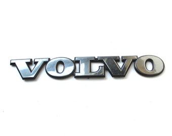 Chrome VOLVO Emblem, car nameplate, custom car, automobile