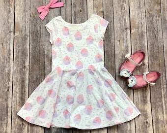 Cupcake Dress. Toddler Dress. Little Girl Dress. Twirl Dress. Twirly Dress. Baby Dress. Baby Cupcake Dress. Cupcake Party. Birthday Dress.