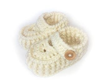 Hand Knitted Baby Warm Booties 100% High quality Merino Wool