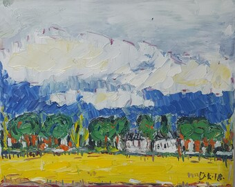 Canola time. Oil on canvas