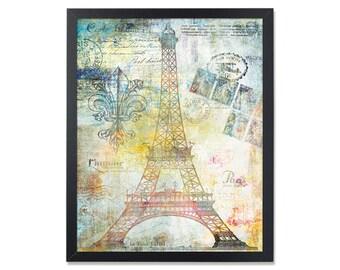 Eiffel tower decor Travel theme Paris art print Printable wall art Paris poster French theme Eiffel Tower Paris theme Vintage style skyline