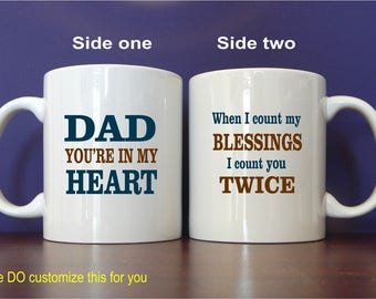 Dad Gift - Gifts for Dad - Fathers Day Mug - Father's Day Gift from Son - Daughter,  MDA015
