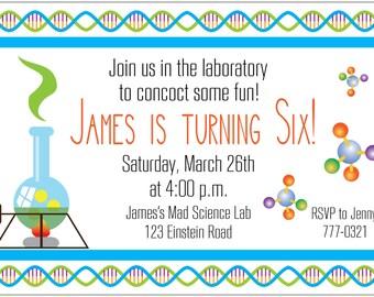 Science Lab Party Invitation