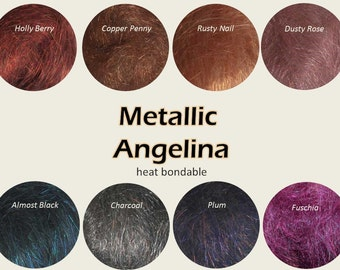 Metallic Angelina Crystalina: Add Sparkle to Your Spinning and other Crafts, 8 Colors to Choose From
