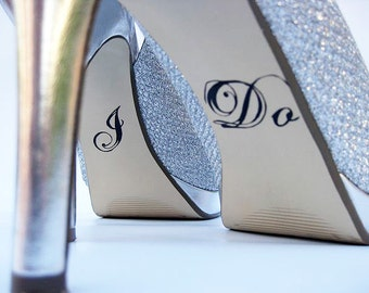 Wedding Shoe Decals,  Bridal Shoe Decal, Bride Shoe Decals
