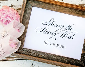 Petal Exit Sign - Printable - DIY Wedding Signage - Shower the Newly Weds