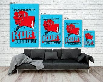 Slaughterhouse Five Canvas Print, Kurt Vonnegut, Literature art print, vintage book cover, Large Premium Gallery Wrap Canvas, Ready to Hang