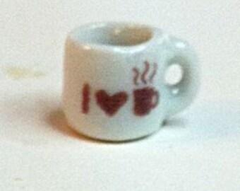 "Miniature ""I Love Coffee"" Mug (CER006)"