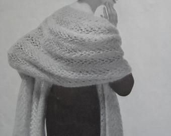 1960's Vintage Knitting PDF Pattern Women's Wrap 1150