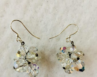 Vintage repurposed Crystal Earrings