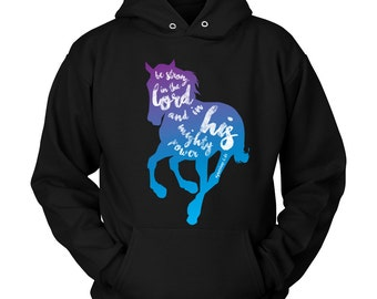 Horse Hoodie / Horse Clothing / Christian Horse / Gift for Horse Lover / Equestrian Gift / Horse Clothes / Hoody / Horse Apparel / Bible