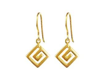 Greek Key Earrings 'Meander' by Ilios, Greek Key Earrings, Greek Earrings, Greek Jewelry, Greek Key, Grecian Earrings, Grecian Jewelry