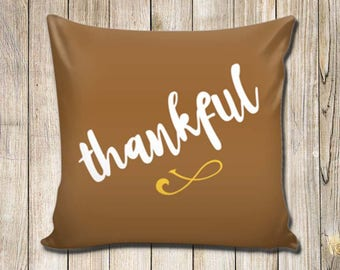 Thanksgiving Pillow Cover - Thankful