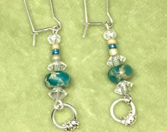 Dangle Earrings featuring Jasper