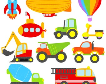 Transportation SVGs, Trucks, Cars and Trains Cutting Templates - Commercial and Personal Use