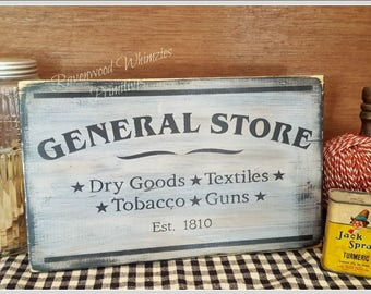 Farmhouse sign, primitive sign, general store sign, store sign, primitive farmhouse decor, farmhouse decor, kitchen sign