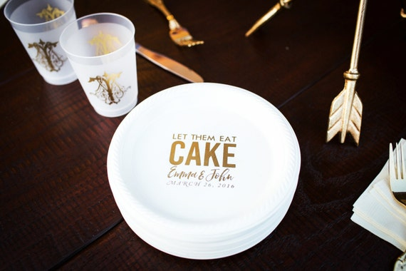 & Personalized Plates Plastic Plates Cake Plates Wedding