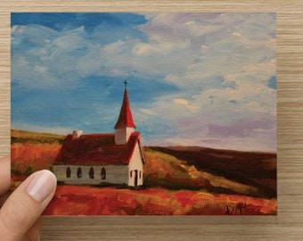 """Folded Note Card """"First Baptist"""""""