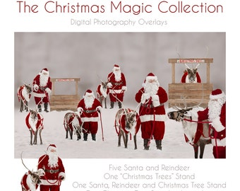 The Christmas Magic Collection I Reindeer Overlays I Santa Overlays I Christmas Overlays