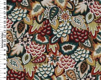 SALE - Bargello Jewel Cotton Home Dec Fabric - One Yard - 44 inch Home Decor Fabric
