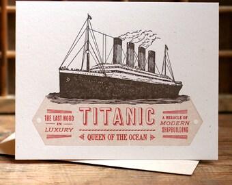 Titanic letterpress card