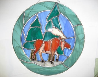 Stained Glass Moose picture