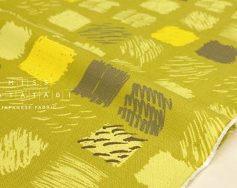 Japanese Fabric Kokka Keshiki denen - chartreuse mustard - 50cm