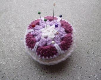 Spike needles, crochet needle cushion handmade in wool, sewing, crochet accessories