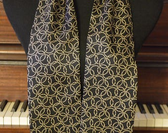 Men silk and wool scarf