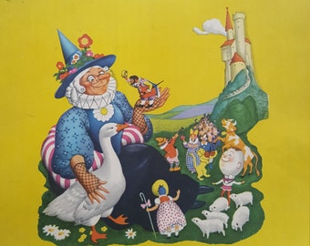 Vintage Nursery Rhyme Prints Mother Goose COMPLETE Set of 10 Penn Prints New York